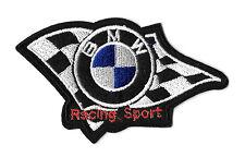 Racing - BMW - Sport - Checkered Flag - Iron On Patch - Racing Theme