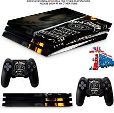 JACK DANIELS PS4 PRO SKINS DECALS PLAYSTATION 4 WRAP TEXTURED VINYL STICKER