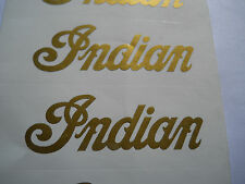 Indian Motorcycle Logo stickers in Metallic Gold (or any color on chart) NEW 2ea