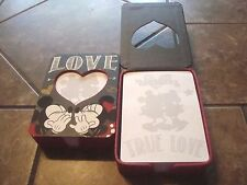Minnie & MIckey Mouse NOTE PAD GIFT BOX SET LOVE NOTES SHOWER GIFT DISNEY STORE