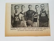 All-Eastern 2nd Yale Brown Cornell University 1916-17 Basketball  Team Picture