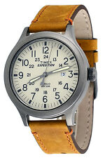 Timex TW4B06500 Men's Expedition Indiglo Gunmetal Tone Tan Leather Band Watch