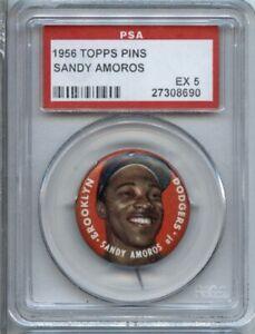 Sandy Amoros 1956 Topps Pin - PSA 5