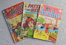 3 books, 2 Marvel Comic MMMMillie the Model, Patsy & Hedy, 1 Archie Series