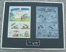 Warner Bros Looney Toons Tweety & Sylvester Vintage 1957 Printing Plate !