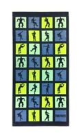 """FORTNITE Gaming Velour Beach Towel 28"""" X 58"""" Blue & Green can be Personalized"""