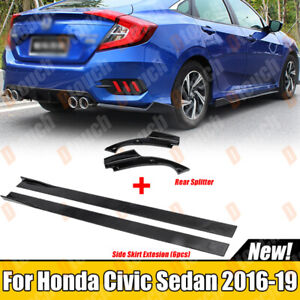 For Honda Civic 2016-2020 Sedan Rear Lip Splitter Side Skirt Extension Body Kits