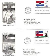 FIRST DAY ISSUE FLAGS OF OUR NATION USA STAMP COVER, YEAR 2009 LOT OF 10
