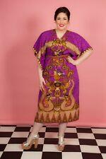 Vintage purple oriental print kaftan