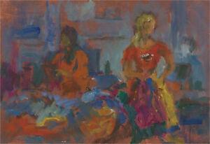 Barbara Doyle (b.1917) - Contemporary Oil, Vibrant Interior