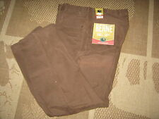 Berne Mens Bark Relax Fit Sanded Duck Carpenter Jeans Size 38 Waist X 34 Inseam