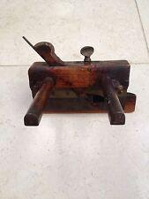 Antique Wood Carpenters Plough Wood Plane.  Joint Chisle