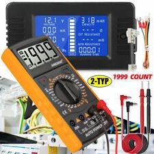 LCD DC Digital Monitor Volt Amperemeter WattMeter Batterie Anzeige Tester
