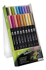 Tombow Brush Pen 18 Colour SECONDARY SET Double Ended Artist Craft Marker Pens