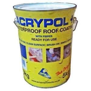 ACRYPOL + Black 5 Litre All Weather Waterproof Roof Repair Coating  RC3005/5