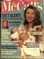 McCALL'S Magazine April 1996 Jane Seymour Twins Robert Redford Celebrity Issue ✿
