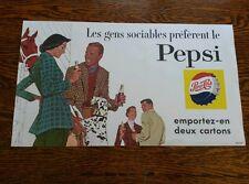 Vintage advertising soda pepsi sign cardboard