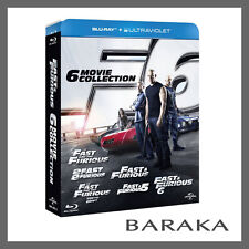 THE FAST and & THE FURIOUS Complete 1 2 3 4 5 6 Blu ray Box Set 1-6 dent sale