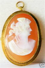 1 & 1/8Th Inch Tall Antique, 10K Gold Cameo Pin Pendant