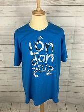 Mens Adidas London 2012 T-Shirt - XL - Blue - Great Condition