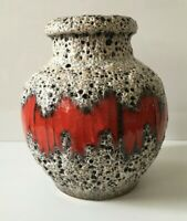 SCHEURICH extravagante Vase Form 291 60er 60s 70s 70er- WGP - Fat Lava