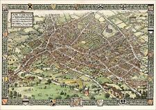 Birmingham in 1730 pictorial map created from City records in 1923