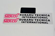 STI SUBRERU TECNICA Vinyl Graphics Car Truck Door Side Protector Sticker 50cm