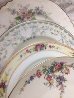 4 - Vintage Mismatched China Dessert Cake Bread Plates mix multi color # 171