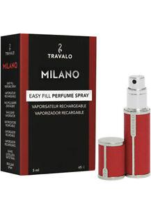 Travalo Milano Luxurious Portable Refillable Fragrance Atomizer, Color RED