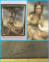 "VTG 1970s VINCIATA ""Broken Silence"" Beautiful Woman Nude - Joseph Wallace King"