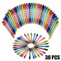 30Pcs Of  Steel Tip Darts Tungsten Barrel Aluminium Shafts Professional Dart