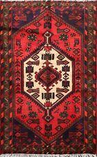 Traditional Tribal Geometric Hamedan Area Rug Wool Hand-knotted Oriental 3x5 ft