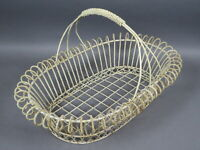 Antique/Vintage Large French Farm House Country Wire Basket Shabby Chic