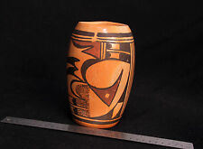 "Hopi Polychrome Cylinder by Eva Yellowbird 7"""