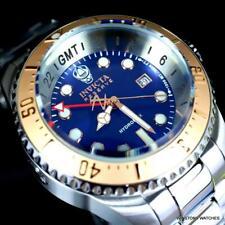 Invicta Reserve Hydromax Suizo Mvt Gmt Azul Reloj Acero Inoxidable 52mm Nueva