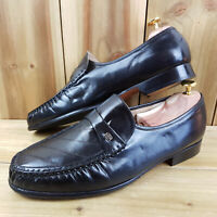 Barker Mens Black Loafer Shoes UK 9 Penny Leather Slip On Dress Shoes Formal Wea