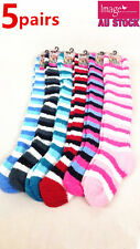 5 Pairs Women Ladies Knee High Bed Socks Winter Warm Socks Size 2-8 990180