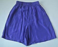 Purple WHISTLES Silk Above Knee Culottes w/ Pockets, Sz M
