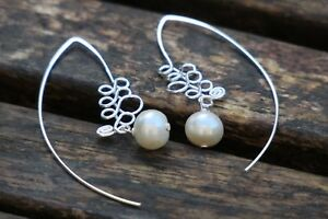 Sterling Silver Earrings with Turquoise, Shell Pearl, Onyx or Coral