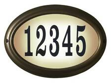 Edgewood, Lto-1302-Orb, Oval Lighted Address Sign in Oil Rub Bronze Frame Color