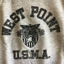 Vintage Military West Point USMA Heather Gray Sweatshirt 80s 70s Size Small