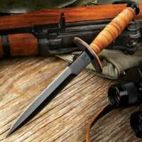 V42 Military Stiletto Dagger w/ Sheath - WWII FSSF Commando Reproduction Knife