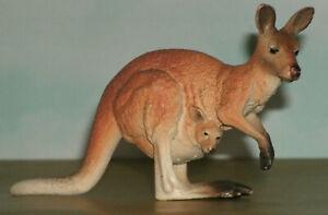 "Kangaroo with Joey Wild Animal Plastic Toy Figure (4.5"" Long) Schleich 14756"