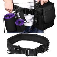 Adjustable Strap DSLR Padded Camera Waist Belt Holder Bag Accessory Outdoor New