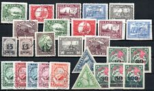 LATVIA , 1921, 1927 , 1928 , lot of SIX better sets , USED , MH  -