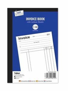 A5 Full Size Invoice Duplicate Receipt Book Numbered Cash 1 - 80 Pages Pad(D36)