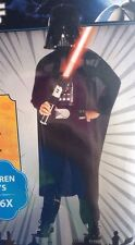 Darth Vader Costume Star Wars Halloween Boy's Small (4-6x) Mask Cape Jumpsuit