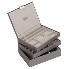 Stackers da LC Designs Beige e Grigio Classic Set di 3 vassoi di gioielli