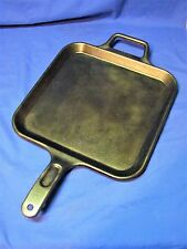 LODGE P12SG CAST IRON 12'' SQUARE GRIDDLE SKILLET USA