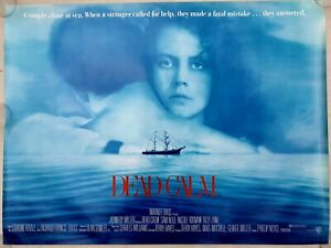 "DEAD CALM ORIGINAL 1989 ROLLED UK QUAD POSTER 30""x40"" - NICOLE KIDMAN SAM NEILL"